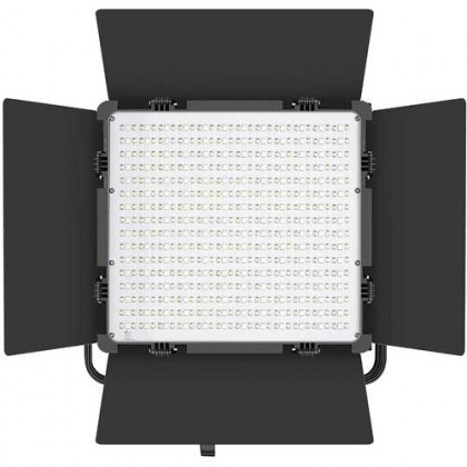 GVM 50RS RGB LED Video Light 2 Panel Kit Full Color CRI TLCI 95+ Bi Color 3200K~5600K Adjustable for Studio Photography with Barn-Door & Bag