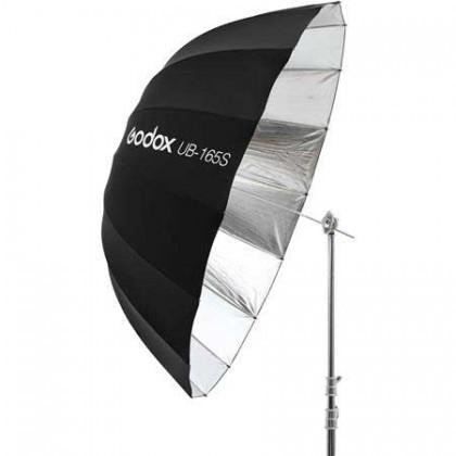 Godox UB-165S 65in/165cm Parabolic Silver Black Reflective Studio Umbrella