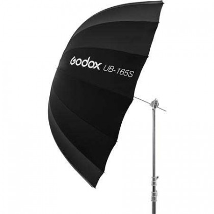 Godox UB-165S 65in/165cm Parabolic Silver Black Reflective Studio Umbrella with Diffuser Combo