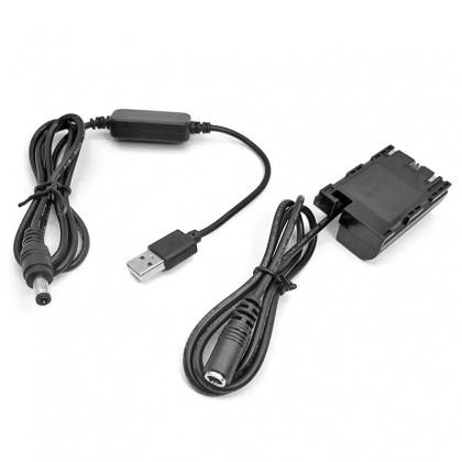 USB-E6 USB Power Adapter Kit for LP-E6 Canon Camera EOS 5D Mark II III IV 5DS R 5D4 6D 7D 7D2 60D 60Da 70D 80D