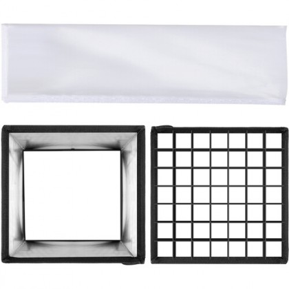 """GVM Softbox With with Honeycomb for 480LS/560AS/800DRGB Series LED Lights (11 x 11"""") Studio LED Panel Light Softbox"""
