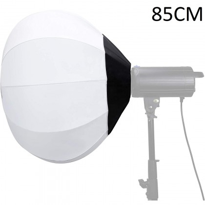 GS Lantern Globe Softbox Easy Fold 85cm for LED Light/Studio Flash/Strobe Moonlight with Bowen Mount