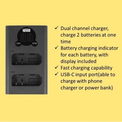 Newell EN-EL14 Battery For D5200 D3100 D3200 D5100 P7000 P7100