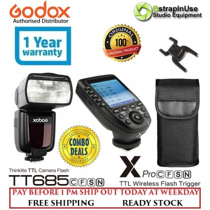 Combo!! Godox TT685 Thinklite TTL Flash Professional Speedlite With XPro Trigger