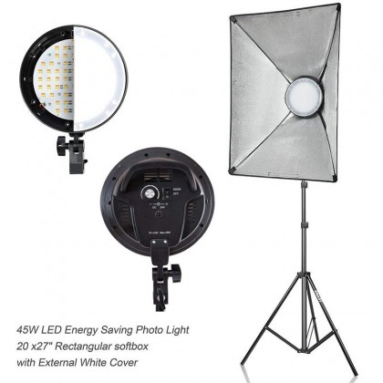 Studio LED Continuous Lighting Pro Kit Combo with Softbox & Stand ( 5500K Dimmer)