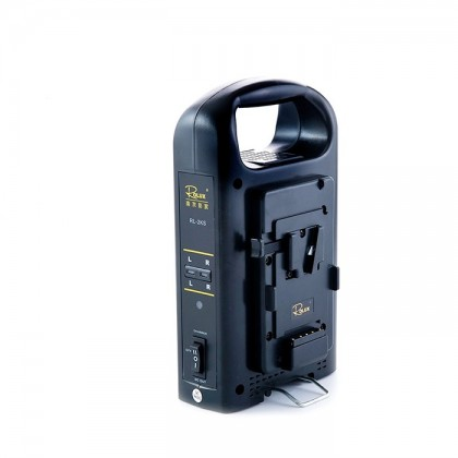 DIGITALFOTO RL-2KS DUAL CHANNEL V-MOUNT BATTERY CHARGER WITH XLR DC POWER OUTPUT