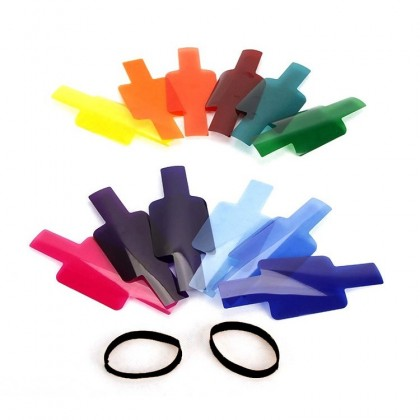 Camera Flash Speedlite Color Gel 12 Color Filters For Speedlite Photographic Gels Filter Flash Speedlite Speedlight