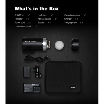 Godox AD300Pro Outdoor Flash Light 300Ws TTL 2.4G 1/8000 HSS for Sony Canon Nikon Fuji & DSLR