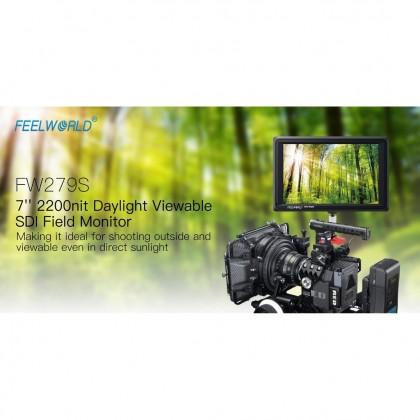 "FEELWORLD FW279 7"" 2200NIT DAYLIGHT VIEWABLE CAMERA FIELD MONITOR 4K HDMI INPUT"