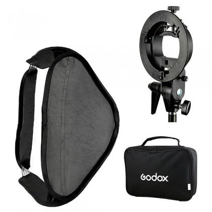 GODOX 60 X 60CM EASY FOLD SPEEDLITE SOFTBOX WITH S2 BRACKET