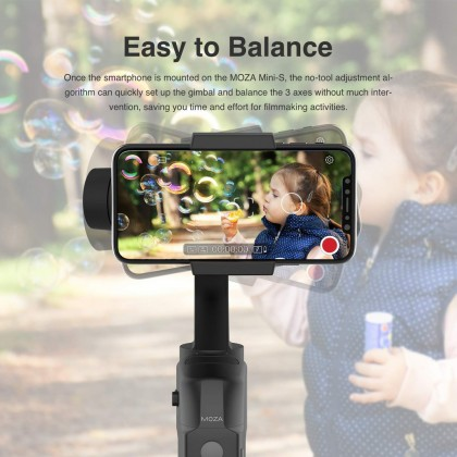 MOZA Mini-S 3-Axis Handheld Foldable Gimbal Stabilizer Tripod for Mobile Phone