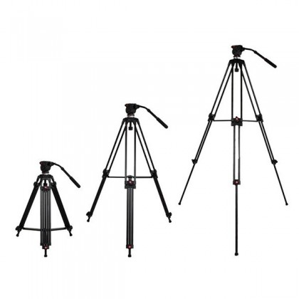 JIEYANG JY0508A PROFESSIONAL VIDEO TRIPOD WITH FLUID VIDEO HEAD FOLDABLE TELESCOPING TRIPOD ALUMINUM ALLOY DSLR CAMERA