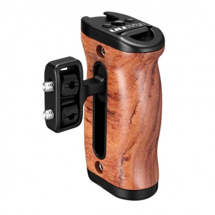UURig R027 Wooden DSLR Camera Hand Grip Handle with cold shoe Mount Led Video Light MIC Monitor for Rig Accessories