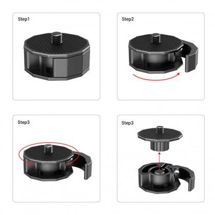 SmallRig BSS2714 DSLR Camera Tripod Clamp Universal Quick Release Adapter Compatible for ZHIYUN / for DJI RONIN S / SC Gimbal etc