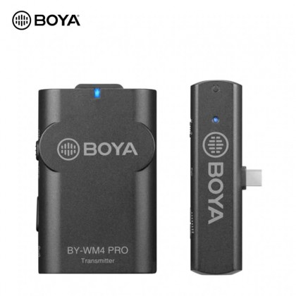 BOYA BY-WM4 PRO K5 Wireless Microphone System Smartphones Video Mic for Android tablets Laptops 2.4GHz