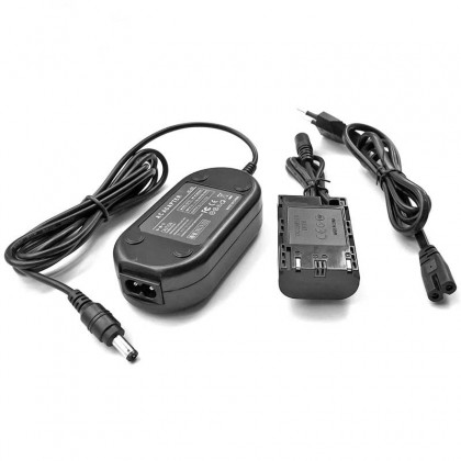 AC Power Adapter Kit for Canon Camera 5D IV III 5DS R 5D4 5D2 6D 7D 7D 60D 70D 80D (AC-E6 + LP-E6 Dummy)