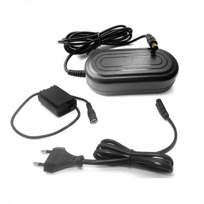 AC Power Adapter Kit for Sony A7R3 A7M3 A9 Cameras (AC Adapter + NP-FZ100 Dummy)