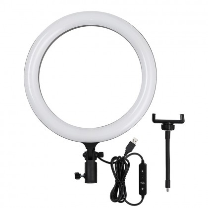 "Godox LR120 12""LED Ring Light Studio Photography Fill-in Light 3000-6000K Phone Holder for Live Streaming Selfie Makeup Portrait"