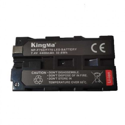 KingMa NP-F750 4400mAh High Capacity Li-ion Battery Replacement Camera Battery NP-F550/F750/F960/F990 And For LED light