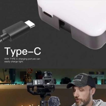 DigitalFoto RGB NANO (6W RGB Mini 68 LED Video Light) With Builtin Battery&Magnet for Photographer Studio Vlogging