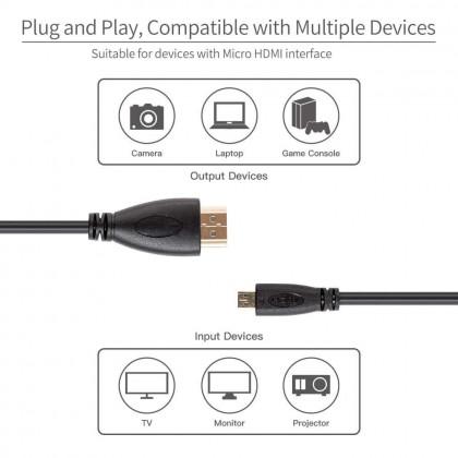 FEELWORLD Micro HDMI to HDMI Cable
