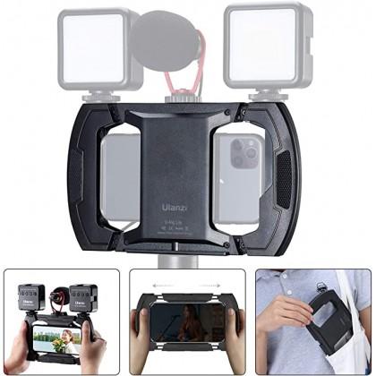 Ulanzi U-Rig Lite Handheld Camera Bracket Mobile Phone Vlog Mounts Holder With 3 Cold Shoe Mic LED Light Expansion Stand