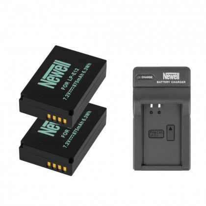 Newell Battery LP-E12 Camera Battery Pack For Canon EOS M, M2, M10, M100, 100D